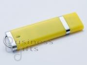 Желтая флешка под нанесение логотипа - доступна на складе!