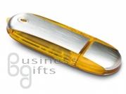 Желтая промо флешка под шелкопечать