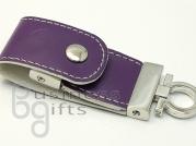 Фиолетовая кожаная флешка