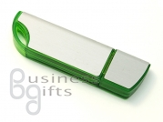Зеленая флешка с накладкой