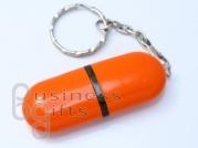 Оранжевая флешка в виде пилюли, пластиковый корпус