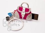 Флешка сумочка с подвеской цветной подвеской