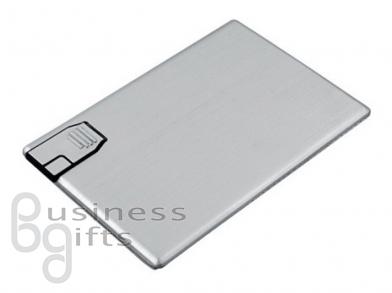 Флешка-карточка из металла, большая и ровная поверхность под логотип
