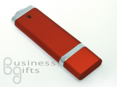 Стильная красная матовая флешка