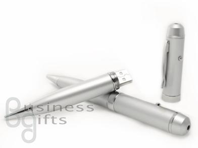 Ручка металлик с лазерной указкой