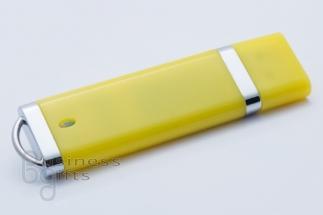 Желтая яркая флешка под нанесение лого тампопечатью