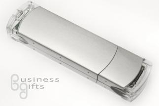 Пластиковая флешка металлик