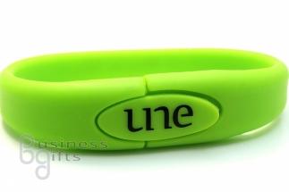 Зеленый браслет флешка PVC (ПВЦ)