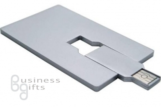Флешка в виде кредитной карточки - полноцветное нанесение логотипа